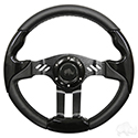 "Steering Wheel, Aviator 5 Black Grip/Black Spokes 13"" Diameter"