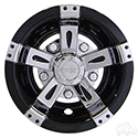 "Wheel Cover, 8"" Vegas Chrome/Black"