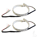 "Flexible LED Light Strips, SET OF 2 12"" w/ Wire Leads, 12VDC, Red"