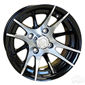 RHOX RX101, 12 Spoke, Machined w/Black w/ Center Cap, 12x7 ET-25