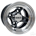 RHOX Brickyard, Machined w/Black w/ Center Cap, 8x7 ET-27