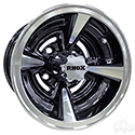RHOX RX145, Machined with Gloss Black, 10x7 ET-25