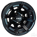 RHOX RX152, 8 Spoke Matte Black w/ Center Cap, 10x7 ET-25