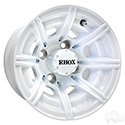 RHOX RX153, 8 Spoke White w/ Center Cap, 10x7 ET-25