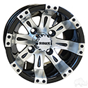 RHOX Vegas, Machined w/Black w/ Center Cap, 10x7 ET-25