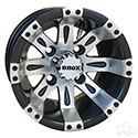 RHOX Vegas, Machined Matte Black w/ Center Cap, 10x7 ET-25