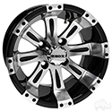 RHOX Vegas, Machined w/Black w/ Center Cap, 12x7 ET-25